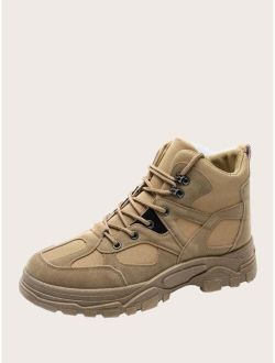 Men Lace-up Front Hiking Boots