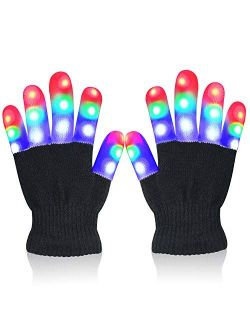 Touber LED Flashing Gloves Novelty for Kids Toys Gifts for 3 4 5 6 7 8 9 10 Year Old Boys Gilrs- Kids Gifts