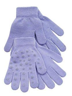 Girls Kids Undercover 2 Pack Thermal Winter Magic Glitter Star Grip Gloves