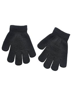 BaiX Boys and Girls Warm Winter Knitted Writing Gloves, 5-12 Years Old