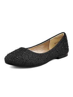 Girls Dress Shoes Slip On Party Ballerina Flats