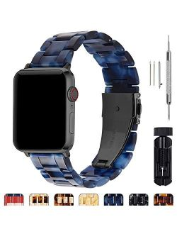 Compatible Apple Watch 38mm/40mm/42mm/44mm, Bright Resin Apple Watch Band For Iwatch Se & Series 6/5/4/3/2/1, Hermes, Nike+, Edition, Sport