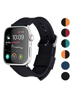 Tch Band Silicone Compatible Apple Watch 42mm 44mm 40mm 38mm, Fullmosa Rainbow Soft Rubber Iwatch Band For Apple Watch Se/6/5/4/3/2/1