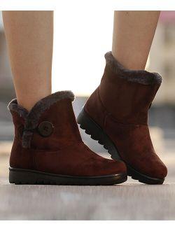Heli | Coffee Faux-Fur Snow Boot - Women