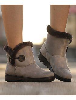 Heli | Gray Faux-Fur Snow Boot - Women