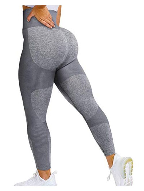 AIMILIA Womens Seamless Workout Leggings High Waist Yoga Gym Pants Butt Lift Tummy Control Tights Athletic Leggings