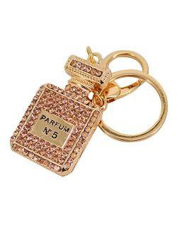 Mily Bling Bling Crystal Keychain Bag Pendant Accessories Cute Cartoon Gun Model Keychain