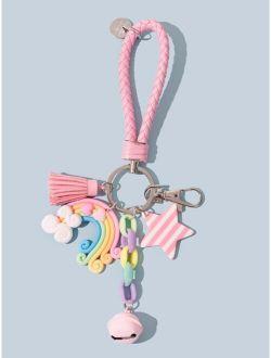 Tassel & Star Charm Keychain