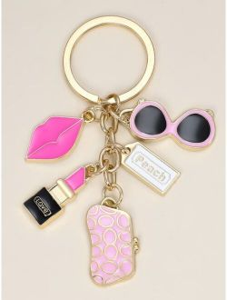 Lipstick Charm Keychain