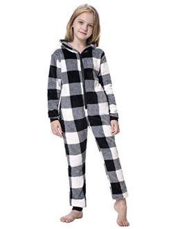 Women's Onesie Pajamas Jumpsuit Fall Winter Warm And Cozy Plush Adult Hooded Pajama S-xxl