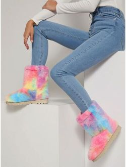 Tie-Dye Wash Ankle Boots
