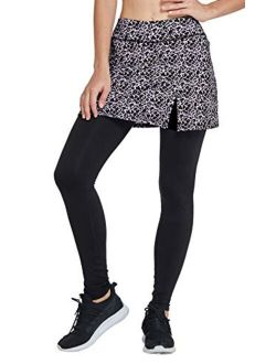 slimour Women Skirts with Leggings Fleece Lined Leggings with Pockets Yoga Pants with Skirt