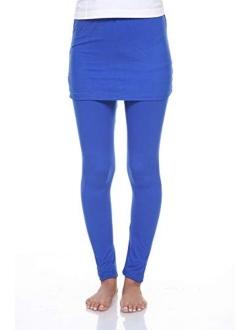 Casual Stylish Skirted Legging Pants For Women