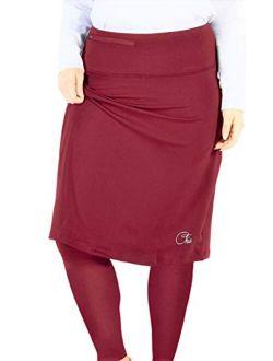 Chic Women's Tennis Skirt | Golf Skirt Skort | Athletic Skirt w/Long Leggings