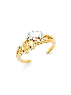 14k Gold Elephant Toe Ring Jewelry Gifts for Women