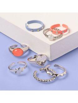 Kids' 8pk Color Pop Ring Set - More Than Magic™