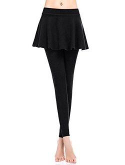 ZUUC Womens Skirt with Elasticated Waist Full Length Thick Leggings