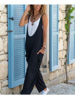 CCK Style   Black Pocket Overalls - Women