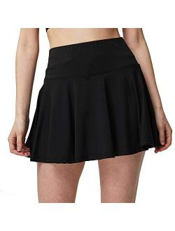 Women's Active Athletic Built-in Shorts Skirt Performance Skort with Pockets for Running Golf Tennis Yoga(S-3XL=US XS-2XL)