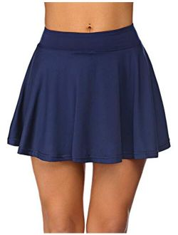 COOrun Womens Pleated Tennis Skirts with Shorts and Pockets Athletic Skort for Golf Sport Running Workout