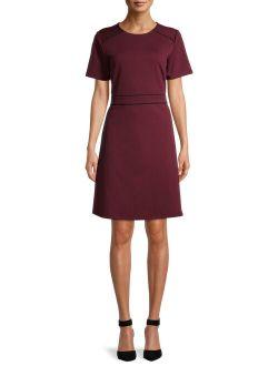 Women's Short Sleeve A-line Dress