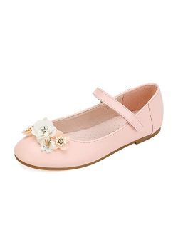 Girls Mary Jane Strap Ballerina Flat Shoes