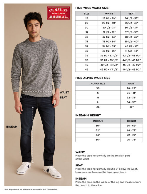 Signature by Levi Strauss & Co. Men's Slim Fit Jeans