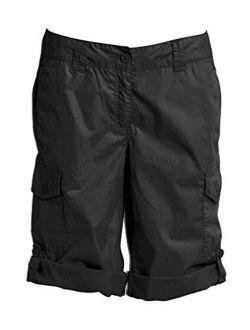 ellos Women's Plus Size Convertible Cargo Shorts
