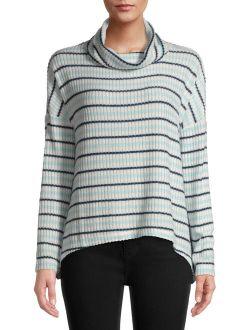 Women's Rib Hacci Cowl Neck T-shirt