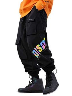 Men's Reflective Jogger Cargo Pants With Pocket
