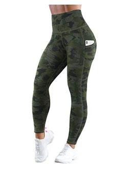 High Waist Yoga Pants With Pockets Tummy Control Pattern Leggings