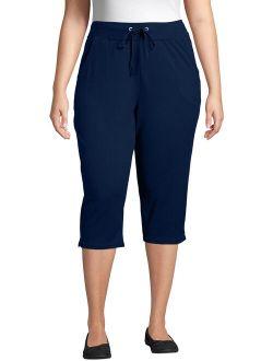 Women's Plus Size French Terry Pocket Capri