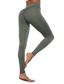 High Waist Booty Seamless Leggings Sport Women Scrunch Fitness Gym Yoga Pants