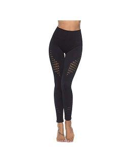 Women's High Waist Seamless Leggings Gym Tight Yoga Pants Tummy Control Workout Leggings Fitness Shark