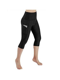 High Waisted Workout Yoga Pants For Women With Pockets Capri Leggings