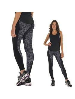 Women's High Waist Yoga Pants Tummy Control Workout Running 4 Way Stretch Yoga Leggings