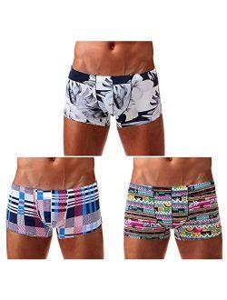Men's Sexy Low Rise Boxer Briefs Trunks Underwear
