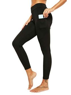 Womens High Waisted Yoga Capri Leggings Workout Leggings With Pockets Sport Pants For Fitness Gym