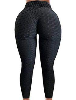 Butt Lifting Anti Cellulite Textured Leggings Women Peach Tik Tok Yoga Pants Workout Scrunch Honeycomb Tights