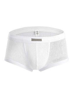 Men's Boxer Briefs Mesh See-through Underwear