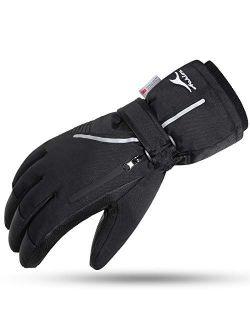 Ski Snow Gloves Waterproof Touchscreen Winter Warm For Men Women With Portable Pocket