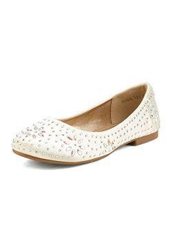 Nina-100 Girls Dress Shoes Classic Ballet Flats (toddler/little Kid/big Kid)