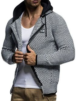 Men's Full Zip Cardigan   Long-sleeved Slim Fit Knitwear   Basic Casual Full Zipped Winter Hoodie For Men