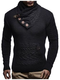 Men's Knitted Pullover | Long-sleeved Slim Fit Knitwear | Winter Sweatshirt With Shawl Collar For Men