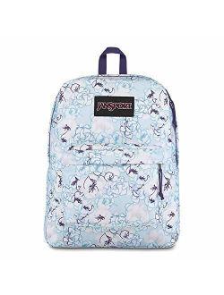 Black Label Superbreak Backpack - Lightweight School Bag - Blue Sketch Floral Print