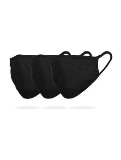 3 Pack Premium Cotton Mask Reuseable Washable In Black Made In Usa