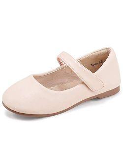 PANDANINJIA Toddler/Little Kid Girl's Susie Dress Mary Jane Ballet Flats Ballerina Flat Shoes for Wedding Party School