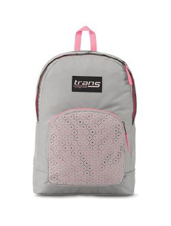 TransOvert 17.5 Laser Lace Backpack - Gray/Pink, Unique laser-cut backpack in light gray and pink hues