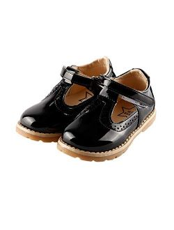 iFANS Mvlsoct Girls T-Strap Mary Jane Shoes Slip-on Party Dress Flat for Toddler Little Kids