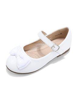 DeerBunny Girls Ballet Flats Shoes Wedding Princess Dress Mary Jane Shoes(Toddler/Little Kid/Big Kid)